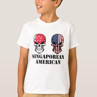 Singaporean American Flag Skulls T-Shirt