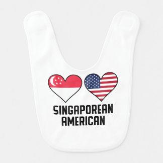 Singaporean American Heart Flags Bib