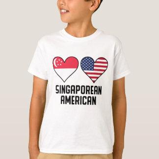 Singaporean American Heart Flags T-Shirt