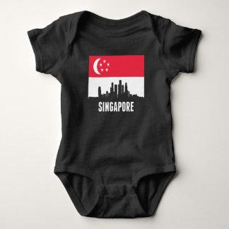 Singaporean Flag Singapore Skyline Baby Bodysuit