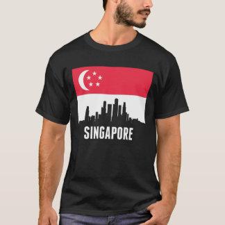 Singaporean Flag Singapore Skyline T-Shirt