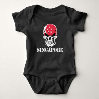 Singaporean Flag Skull Singapore Baby Bodysuit
