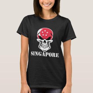 Singaporean Flag Skull Singapore T-Shirt