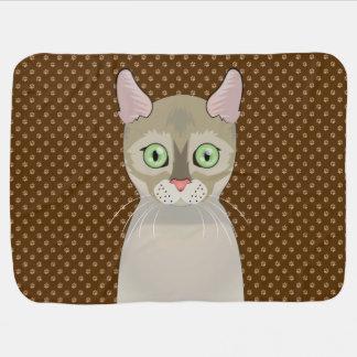 Singapura Cat Cartoon Paws Baby Blanket