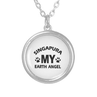 SINGAPURA CAT SILVER PLATED NECKLACE