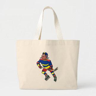 Singe d'hockey sac en toile