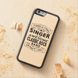 SINGER awesome classic rock band (blk) Carved Maple iPhone 6 Bumper Case