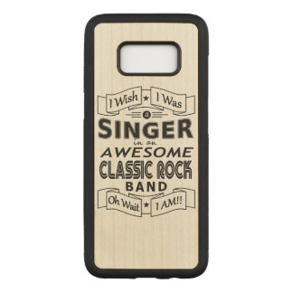 SINGER awesome classic rock band (blk) Carved Samsung Galaxy S8 Case