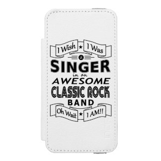 SINGER awesome classic rock band (blk) Incipio Watson™ iPhone 5 Wallet Case