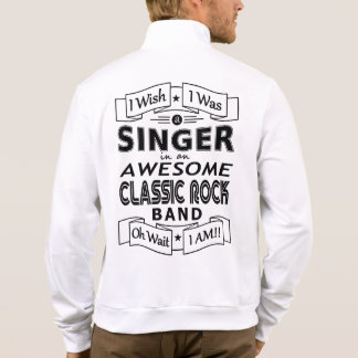 SINGER awesome classic rock band (blk) Jacket