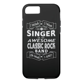 SINGER awesome classic rock band (wht) Case-Mate iPhone Case