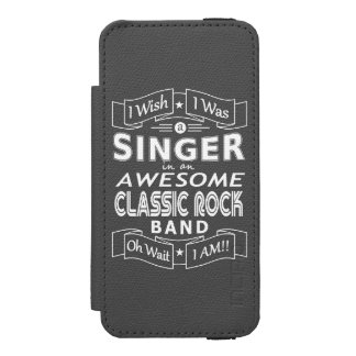 SINGER awesome classic rock band (wht) Incipio Watson™ iPhone 5 Wallet Case