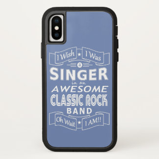 SINGER awesome classic rock band (wht) iPhone X Case