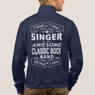 SINGER awesome classic rock band (wht) Jacket
