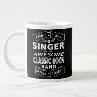 SINGER awesome classic rock band (wht) Large Coffee Mug