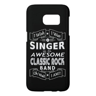 SINGER awesome classic rock band (wht) Samsung Galaxy S7 Case