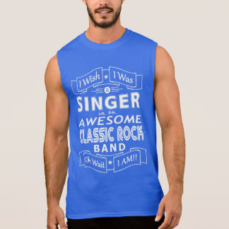 SINGER awesome classic rock band (wht) Sleeveless Shirt