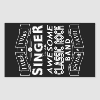 SINGER awesome classic rock band (wht) Sticker