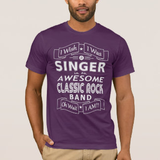 SINGER awesome classic rock band (wht) T-Shirt