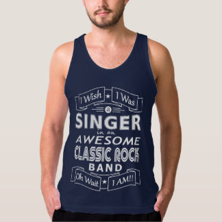 SINGER awesome classic rock band (wht) Tank Top
