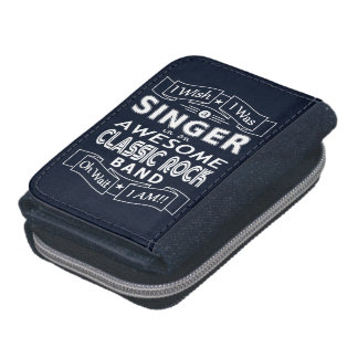 SINGER awesome classic rock band (wht) Wallet