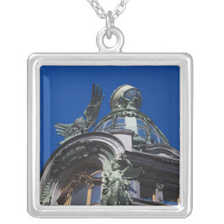 Singer Building, detail Silver Plated Necklace