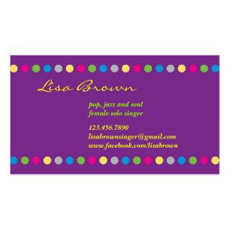 Singer Entertainer Business Card