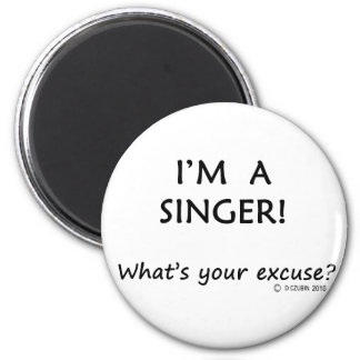 Singer Excuse Magnet