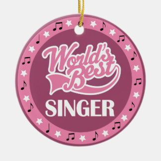 Singer Gift For Her Ceramic Ornament