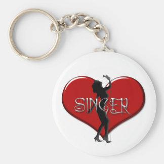 Singer I Love a Singer Heart Keychain