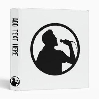 Singer Icon - Karaoke Logo Vinyl Binders