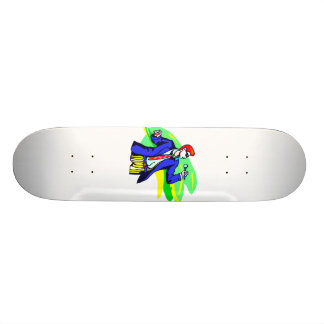 Singer in Suit and Sunglasses Skate Deck