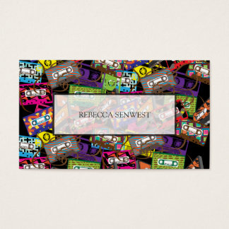 Singer Mix Tape Musician DJ Professional Business Card