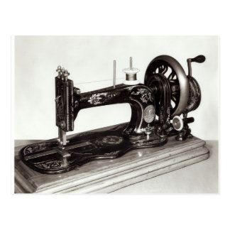 Singer 'New Family' sewing machine, 1865 Postcard