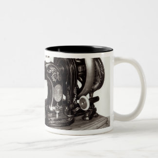 Singer 'New Family' sewing machine, 1865 Two-Tone Coffee Mug