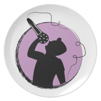 Singer Party Plates