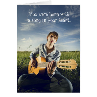 Singer Songwriter Acoustic Guitarist Birthday Card