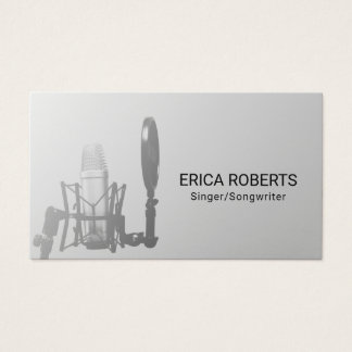 Singer Songwriter Vocalist Music Teacher Business Card