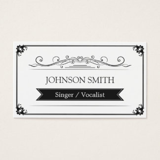 Singer / Vocalist - Classy Vintage Frame Business Card