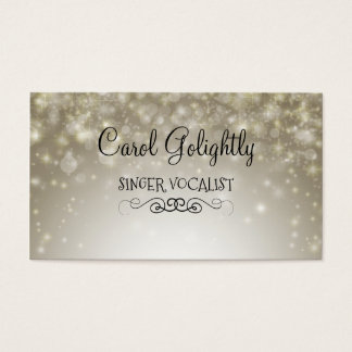 Singer Vocalist Contact Cards