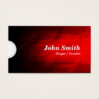 Singer / Vocalist - Modern Dark Red Business Card