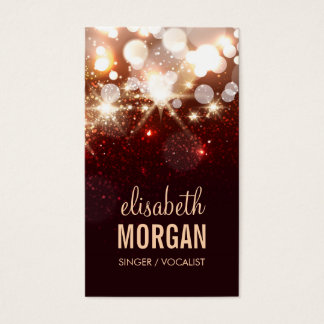 Singer / Vocalist - Modern Glitter Sparkle Business Card