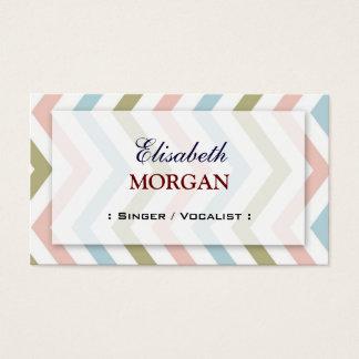 Singer / Vocalist - Natural Graceful Chevron Business Card