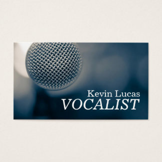 Singer, Vocalist, Solo, Performance Entertainment Business Card