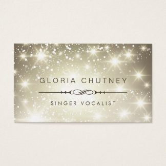 Singer / Vocalist - Sparkling Bokeh Glitter Business Card