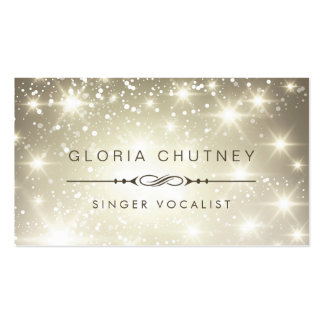 Singer / Vocalist - Sparkling Bokeh Glitter Pack Of Standard Business Cards