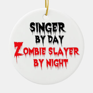Singer Zombie Slayer Ceramic Ornament