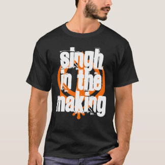 Singh in the Making, Black - Customized T-Shirt