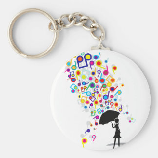 Singin' in the Rain Basic Round Button Keychain