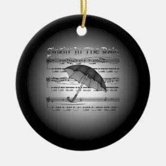 Singin' In The Rain ~ Umbrella ~ Sheet Music Ceramic Ornament